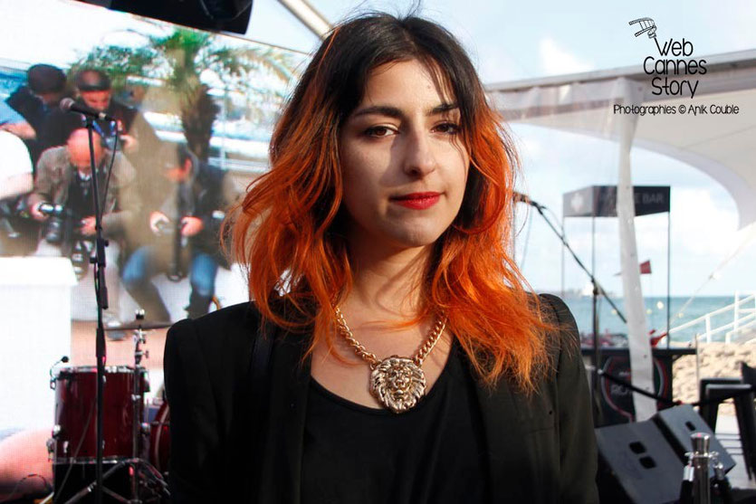 "Nili Hadida,  du groupe ""Lilly Wood and the Prick"" -  Terrazza Martini - Festival de Cannes 2013 - Photo © Anik COUBLE"