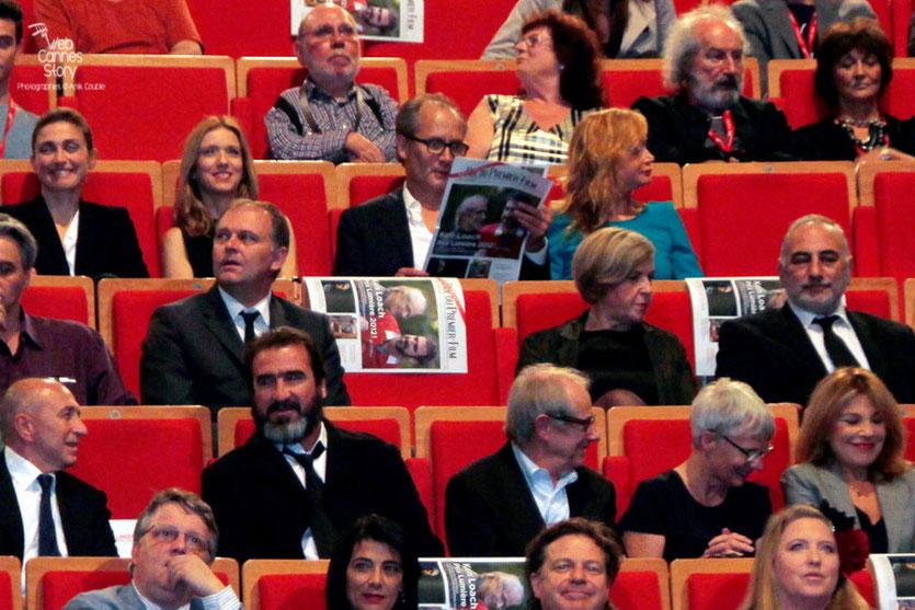 Ken Loach, Eric Cantona et Gérard Collomb - Festival Lumière 2012 - Lyon - Photo © Anik Couble