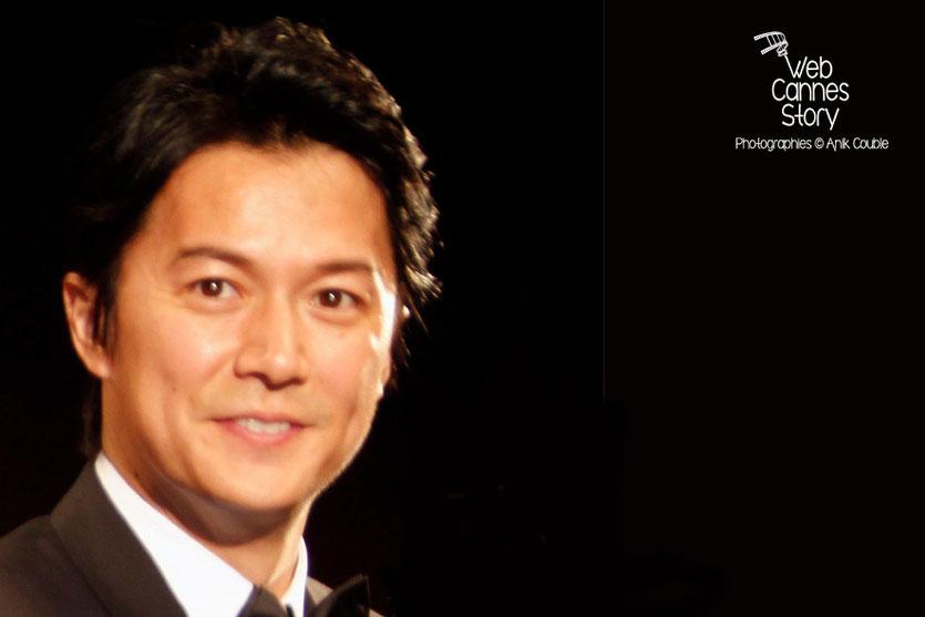 """Masaharu Fukuyama, acteur du film japonais """"Tel père, tel fils"""" de Kore-Eda Hirokazu - Festival de Cannes 2013 - Photo © Anik COUBLE"""