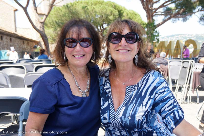 Avec Dolores, lors de l'aïoli, le traditionnel déjeuner de presse, offert par le Maire de Cannes - Festival de Cannes 2017 - Photo © Anik Couble