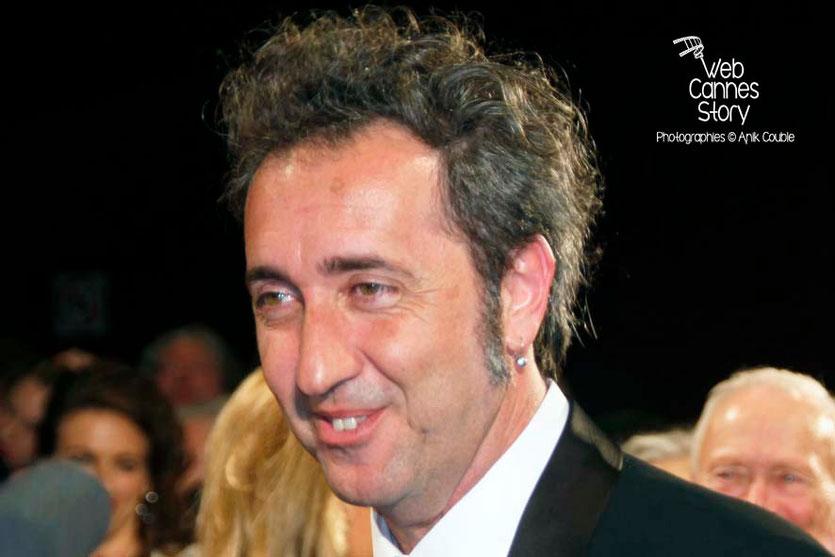 Paolo Sorrentino, lors de la projection de son film «La Grande Bellezza» - Festival de Cannes 2013 © Anik COUBLE