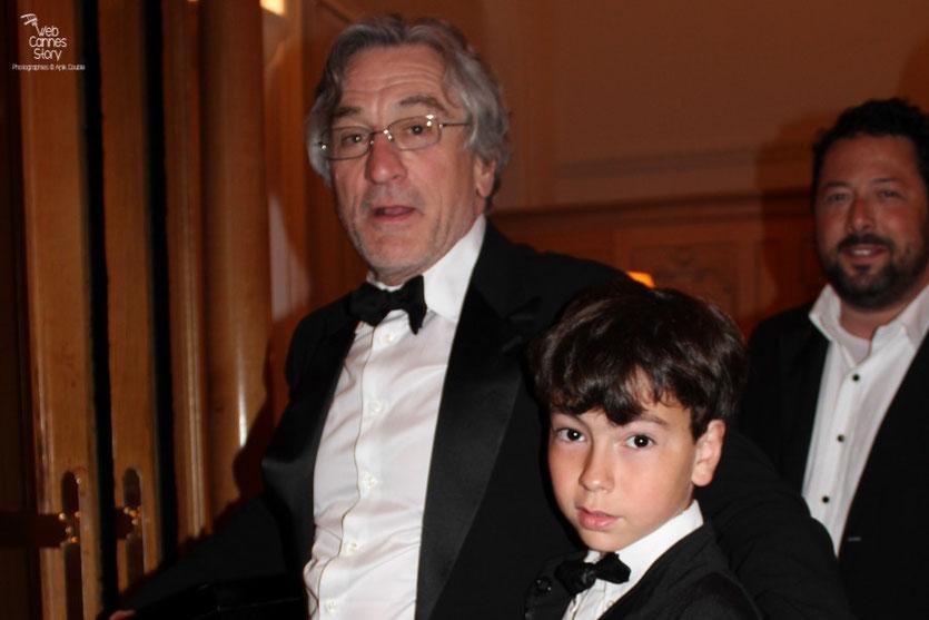 Robert De Niro, Président du Jury et Alan Badaoui-Couble - Festival de Cannes 2011 - Photo © Anik Couble
