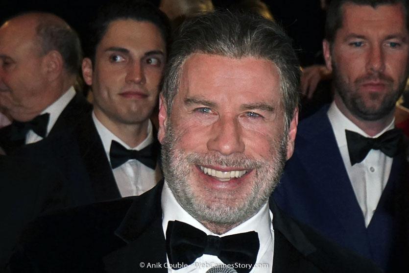 John Travolta, lors de la projection du film, Gotti, de Kevin Connolly, présenté, en séance spéciale - Festival de Cannes 2018 - Photo © Anik Couble