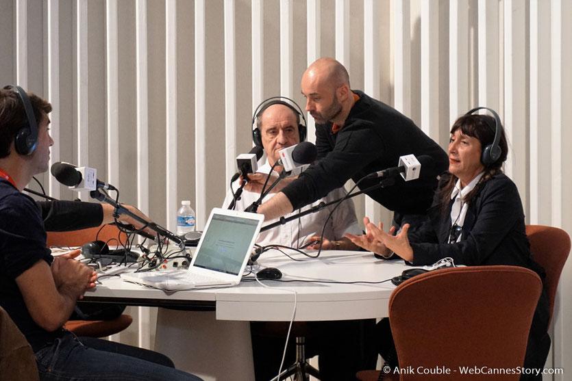 Pierre Lescure et Sylvie Pialat -  Radio Lumière - Festival Lumière 2016 - Lyon - Photo © Anik Couble