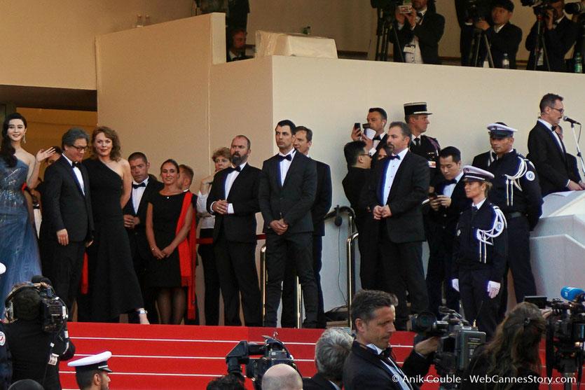 Fan Bingbing, Park Chan-wook et Maren Ade, sur les marches, pour assister à la cérémonie de clôture du 70eme Festival de Cannes  - Festival de Cannes 2017 - Photo © Anik Couble