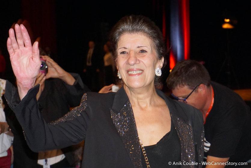 Biyouna, la très populaire actrice algérienne, lors de la Cérémonie de Remise du Prix Lumière à Jane Fonda - Festival Lumière 2018 - Lyon - Photo © Anik Couble