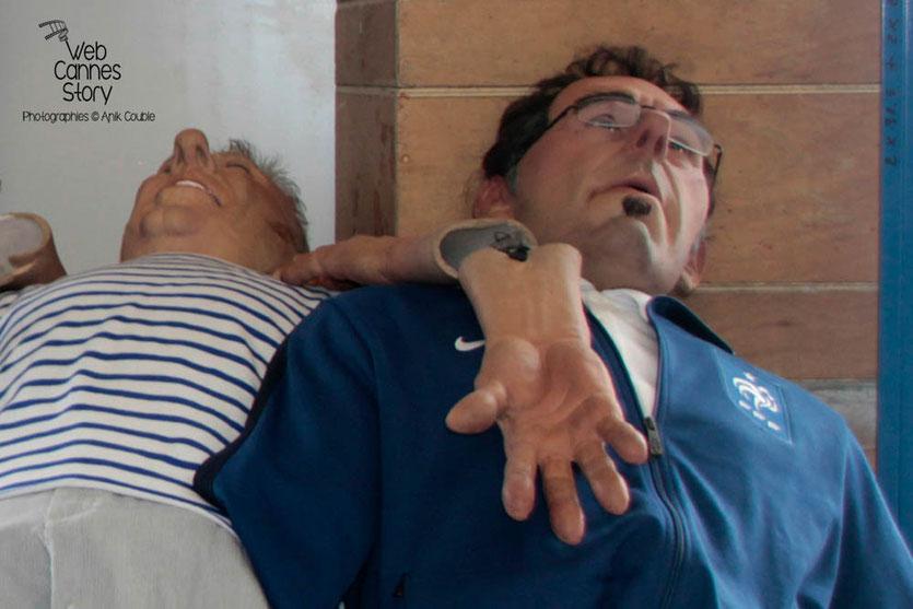 La marionnette de Laurent BLANC - Coulisses des Guignols de l'info - Festival de Cannes 2012  © Anik COUBLE