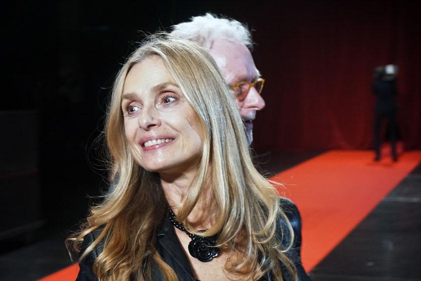 Nastassja Kinski, sur le tapis rouge, lors de la cérémonie d'ouverture du Festival Lumière 2018 - Lyon - Photo © Anik Couble