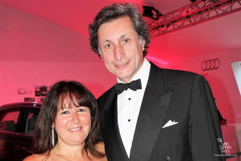 Anik Couble  et Patrick de Carolis, lors de la remise du Prix François Chalais à Nadine Labaki - Festival de Cannes 2011 - Photo © Anik Couble