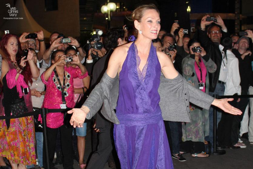 Uma Thurman, membre du Jury - Festival de Cannes 2011 - Photo © Anik Couble