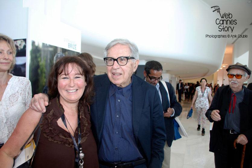 Anik Couble et Vittorio  Taviani, lors de l'hommage aux frères Lumière - Festival de Cannes 2015 - Photo © Anik COUBLE