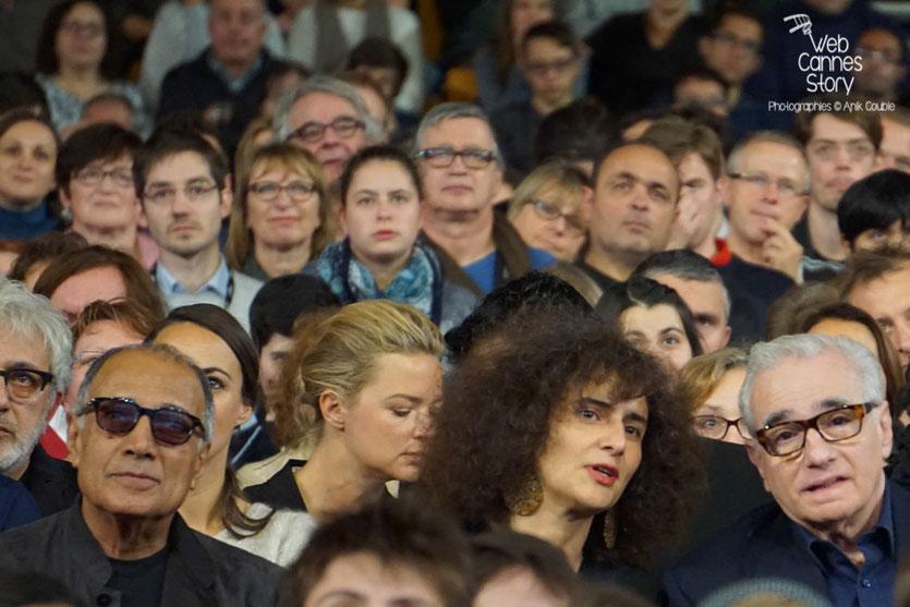 Martin Scorsese et Abbas Kiarostami, parmi le public de la Halle Tony Garnier - Clôture du Festival Lumière 2015 - Lyon  - Photo © Anik COUBLE