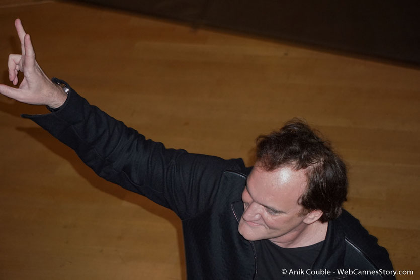 Quentin Tarantino, lors de sa Master Class - Festival Lumière 2016 - Auditorium de Lyon - Photo © Anik Couble