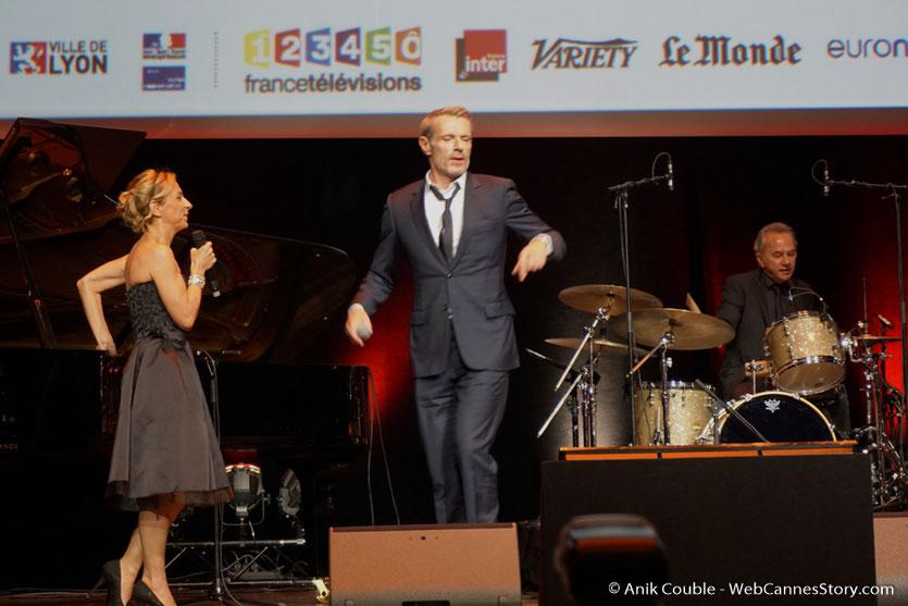 Natalie Dessay et Lambert Wilson - Cérémonie de remise du Prix Lumière - Amphitheâtre 3000 - Lyon - Oct 2016  - Photo © Anik Couble