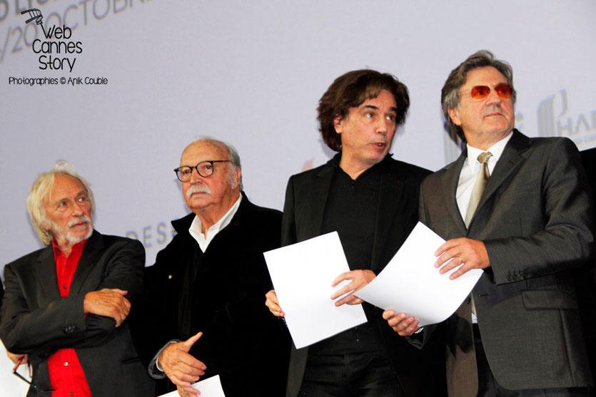 Pierre Richard, Jean Becker, Jean-Michel Jarre et Daniel Auteuil - Festival Lumière - Lyon - Oct 2013 - Photo © Anik COUBLE