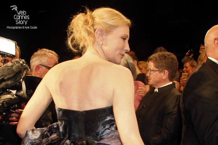 "Cate Blanchett, lors de la projection de ""Carol"" de Todd Haynes - Festival de Cannes 2015 - Photo © Anik COUBLE"
