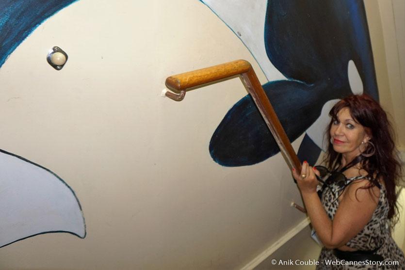 """Esméralda Petit Benito, à bord du """"Sam Simon"""" l'un des bateaux de la fondation Sea Shepherd - Festival de Cannes 2016 - Photo © Anik Couble"""