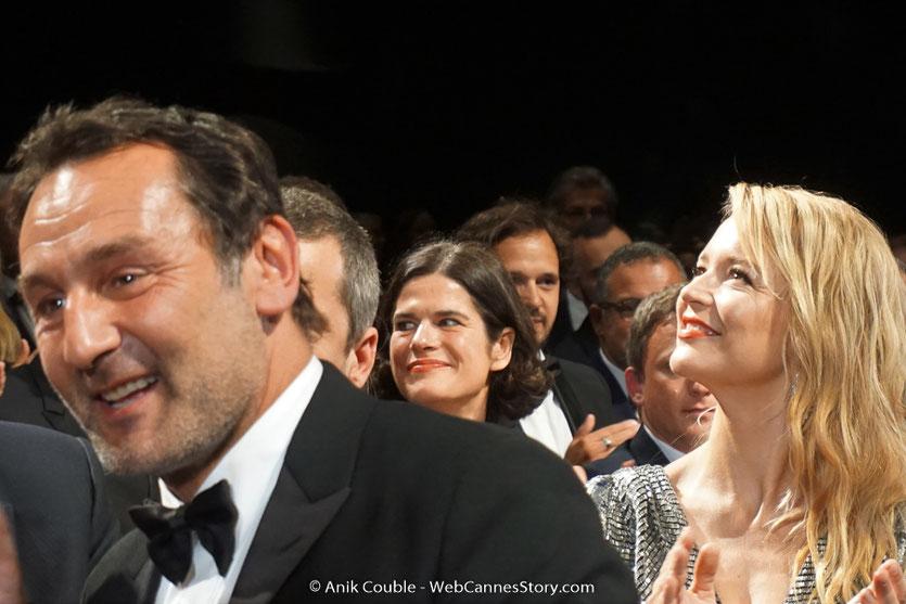 Gilles Lellouche, en compagnie de Virginie Efira, lors de la projection de son film, Le grand bain, présenté, le 13 mai 2018, hors compétition - Festival de Cannes 2018 - Photo © Anik Couble