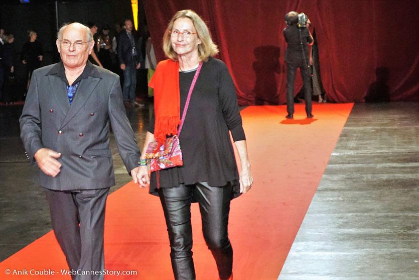 Jean-François Stevenin et son épouse Claire, lors de la cérémonie d'ouverture du Festival Lumière 2017, à Lyon - Photo © Anik Couble