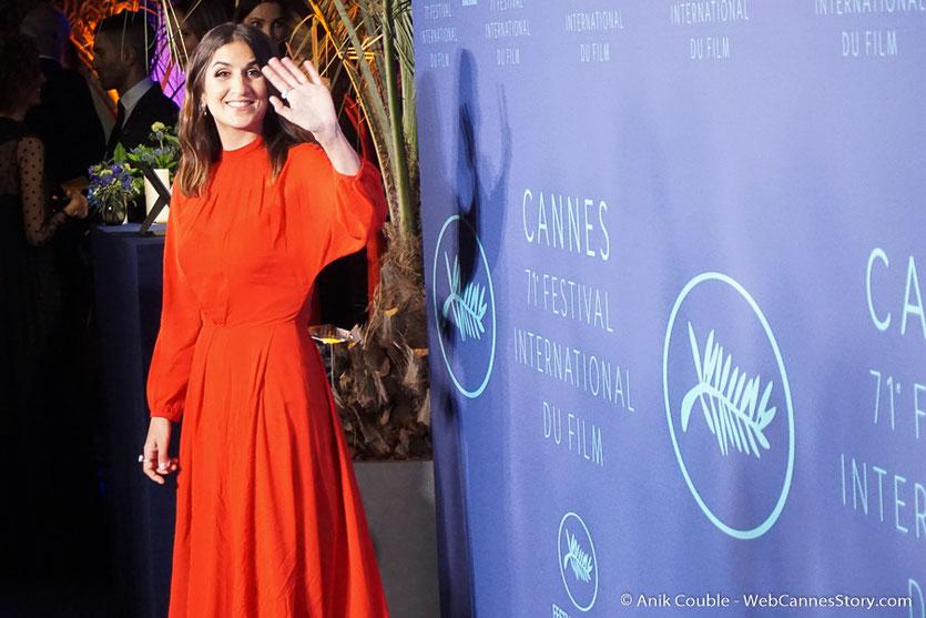 Géraldine Nakache,  souriante et pétillante - Soirée d'ouverture - Festival de Cannes 2018  - Photo © Anik Couble