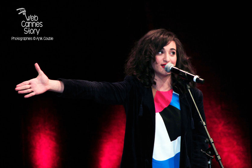 Calémia Jordana, lors de la remise du Prix Lumière à Pedro Almodovar - Festival Lumière - Lyon - Oct 2014 - Photo © Anik COUBLE