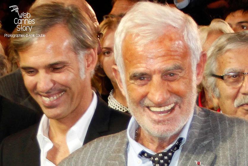 Paul et Jean-Paul Belmondo - Festival Lumière - Lyon - Oct 2013 - Photo © Anik COUBLE