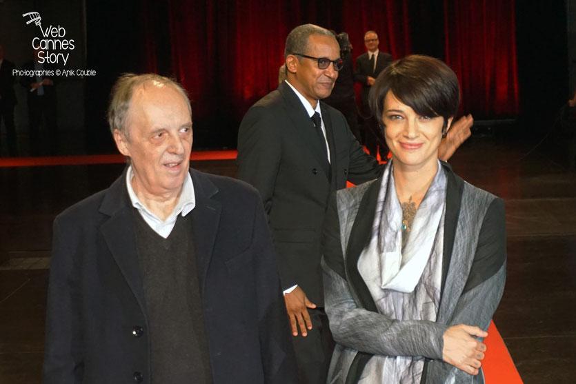 Dario et Asia Argento, lors de la cérémonie d'ouverture du Festival Lumière 2015 - Lyon - Photo © Anik COUBLE