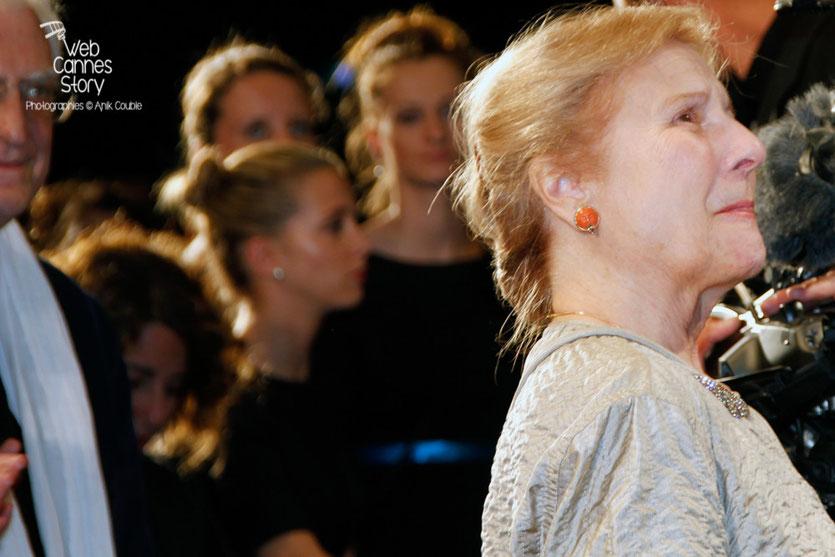 """Giulia Lazzarini, lors de la projection du film """"Mia Madre"""" de Nanni Moretti - Festival de Cannes 2015 - Photo © Anik COUBLE"""