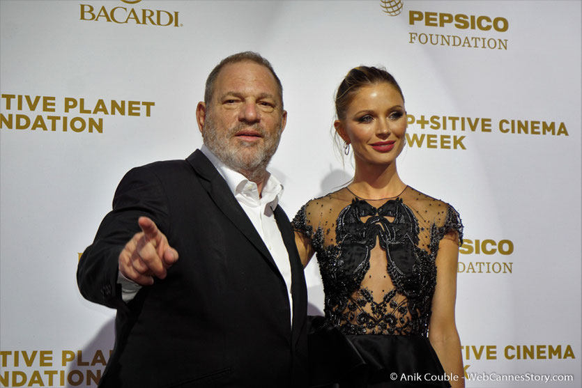 Harvey Weinstein et son épouse Georgina Chapman, lors du dîner de gala de la Fondation Positive Planet et de la remise des prix de la Positive Cinema Week 2017 - Festival de Cannes 2017 - Photo © Anik Couble