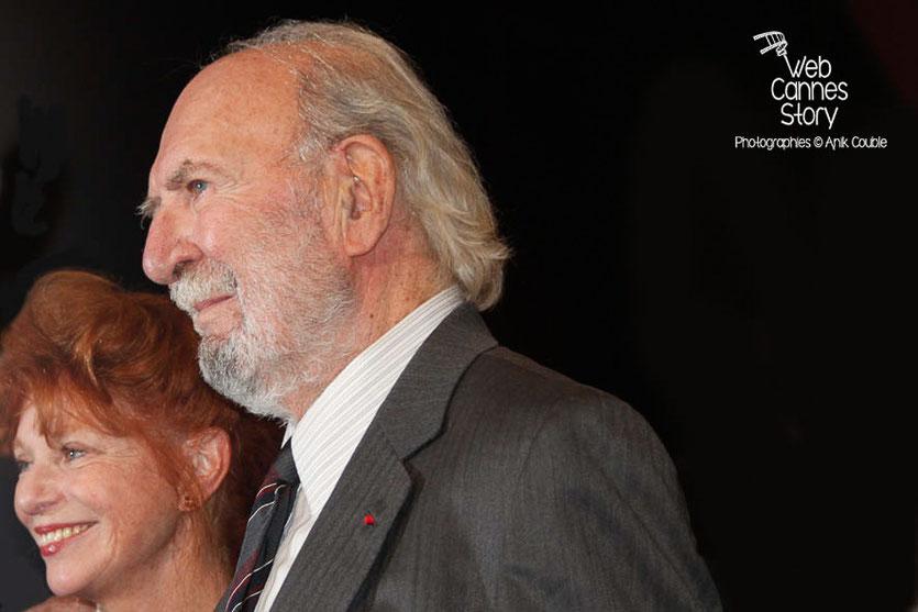 Jean-Pierre Marielle et sa compagne, lors de l'hommage à Jean-Paul Belmondo - Festival Lumière - Lyon - Oct 2013 - Photo © Anik COUBLE
