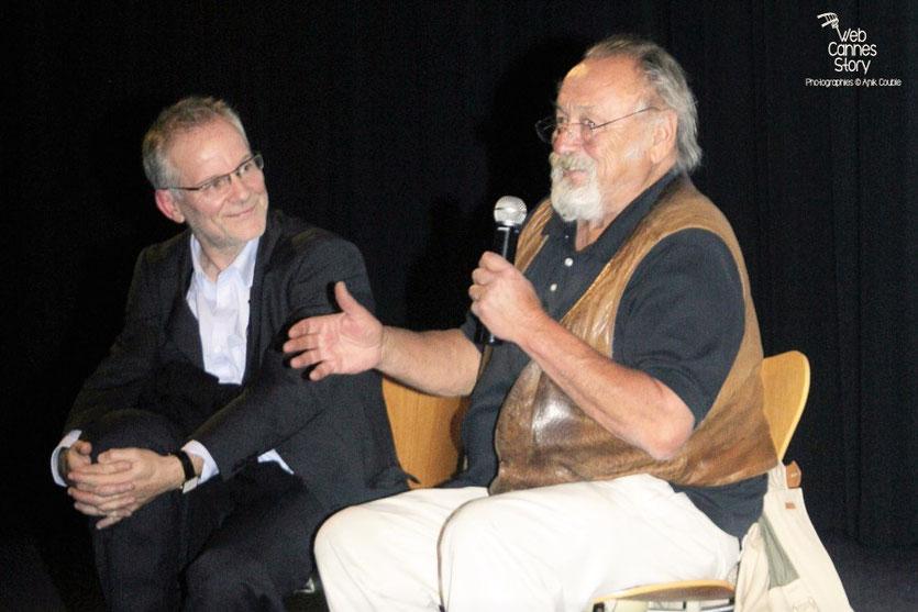 Jim Harrison, écrivain américain et Thierry Frémaux - Festival Lumière 2010 - Photo © Anik Couble