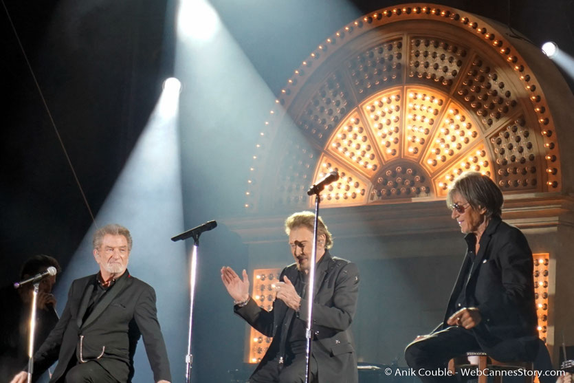 Concert Les Vieilles Canailles - Eddy Mitchell, Johnny Hallyday et Jacques Dutronc - Printemps de Pérouges - Photo © Anik Couble