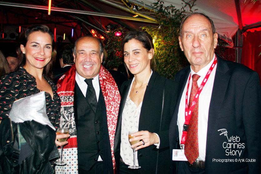 Max Lefrancq-Lumière et Max Chaoul avec des amies - Festival Lumière - Lyon - Octobre 2013 - Photo © Anik COUBLE