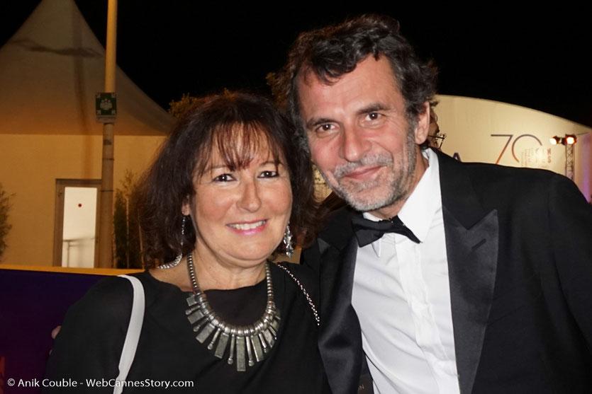 En compagnie d'Eric Lartigau - Festival de Cannes 2017 - Photo © Anik Couble