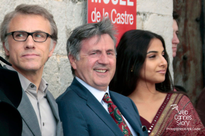 Christopher Waltz, Daniel Auteuil et Vidya Balan - Festival de Cannes 2013 - Photo © Anik COUBLE