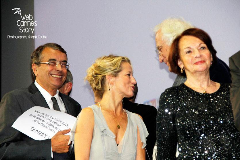 Jean-Jack Queyranne, Laure Marsac et Françoise Arnoul - Festival Lumière - Lyon - Oct 2013 - Photo © Anik COUBLE
