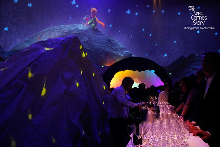 """Le décor de la féerique soirée du film """" Le petit prince """" de Mark Osborne - Festival de Cannes 2015 - Photo © Anik COUBLE"""