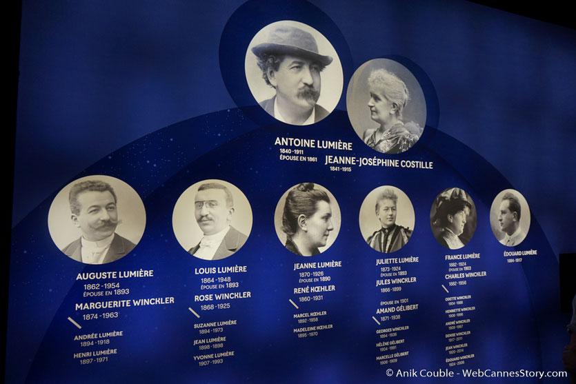 L'Arbre généalogique de la famille lumière, installé dans l'exposition Lumière !  Le cinéma inventé - Musée des Confluences - Lyon - juin 2017 - Photo © Anik Couble