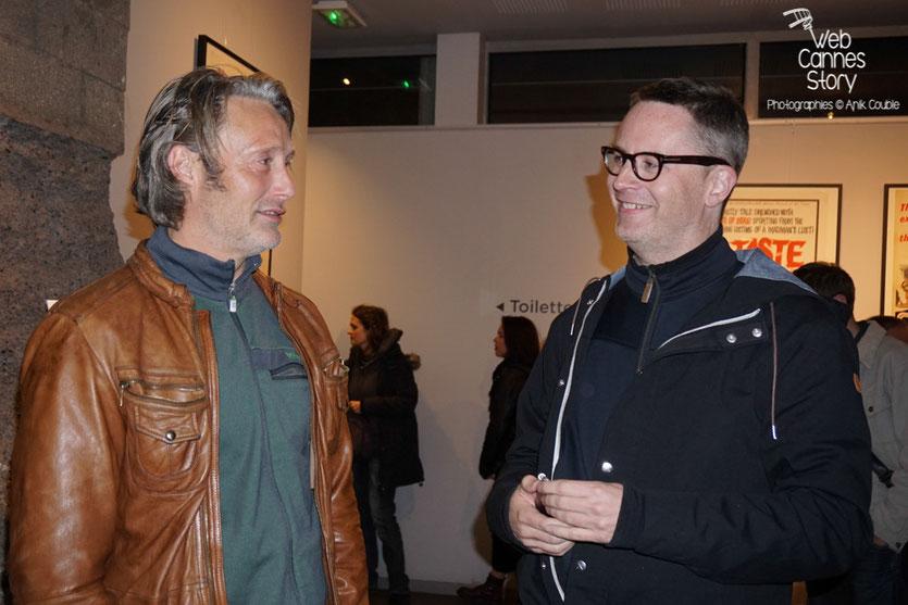 Mads Mikkelsen et Nicolas Winding Refn, dans le Hangar du 1er film - Festival Lumière 2015 -  Lyon - Photo © Anik COUBLE