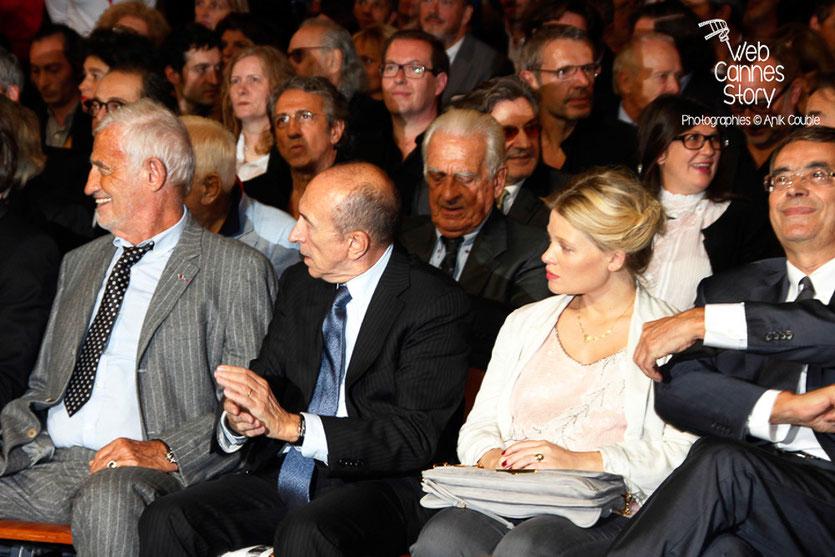 Paul et Jean-Paul Belmondo, Gérard Collomb, Elisabeth et Jean-Jack Queyranne - Festival Lumière - Lyon - Oct 2013 - Photo © Anik COUBLE