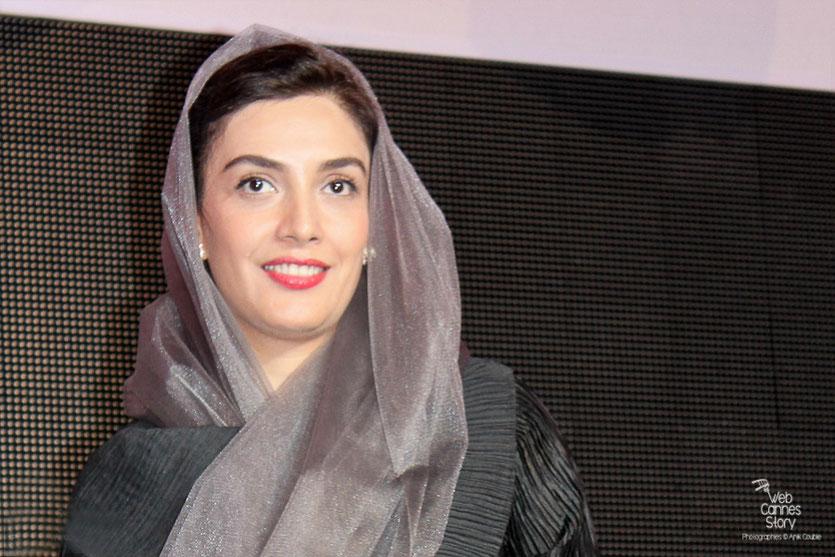 """Leyla Zareh, actrice du film """"Au revoir"""" de Mohammad Rasoulof, lors de la remise du Prix François Chalais à Nadine Labaki - Festival de Cannes 2011- Photo © Anik Couble"""