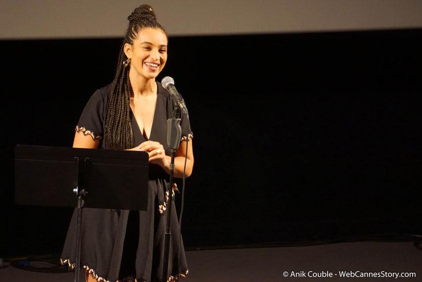 Concert de Camélia Jordana,  pendant lequel elle a interprété les chansons du répertoire du cinéma français, lors du Festival  Lumière 2018 - Lyon - Photo © Anik Couble