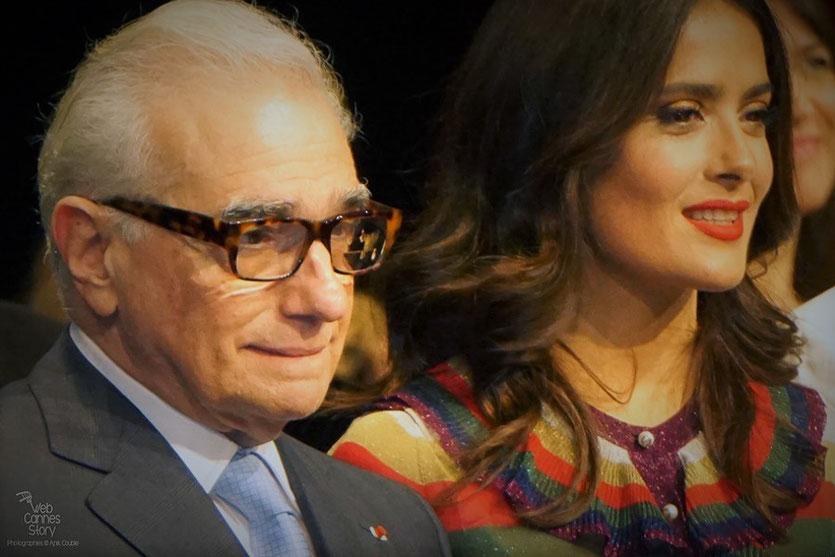 Martin Scorsese et Salma Hayek, Remise du Prix Lumière à Martin Scorsese - Festival Lumière - Lyon - Oct 2015 - Photo © Anik COUBLE
