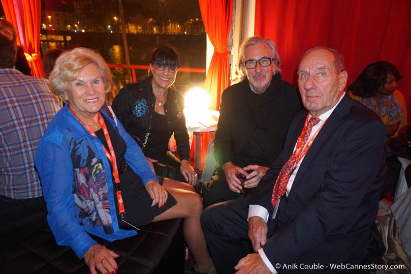Max Lefrancq-Lumière,  à La Plateformen en compagnie de son épouse Michèle ainsi que Robert Barnouin et son épouse Monique - Festival Lumière 2016 - Lyon - Photo © Anik Couble