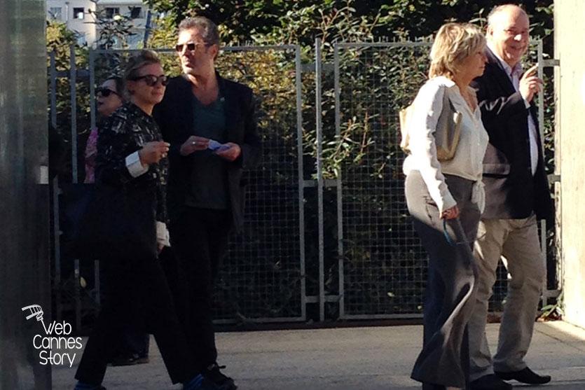 Xavier Dolan et Danièle Thompson, lors du remake de la Sortie des Usines - Festival Lumière - Lyon - Octobre 2014 - Photo © Catherine et Cédric Laubier