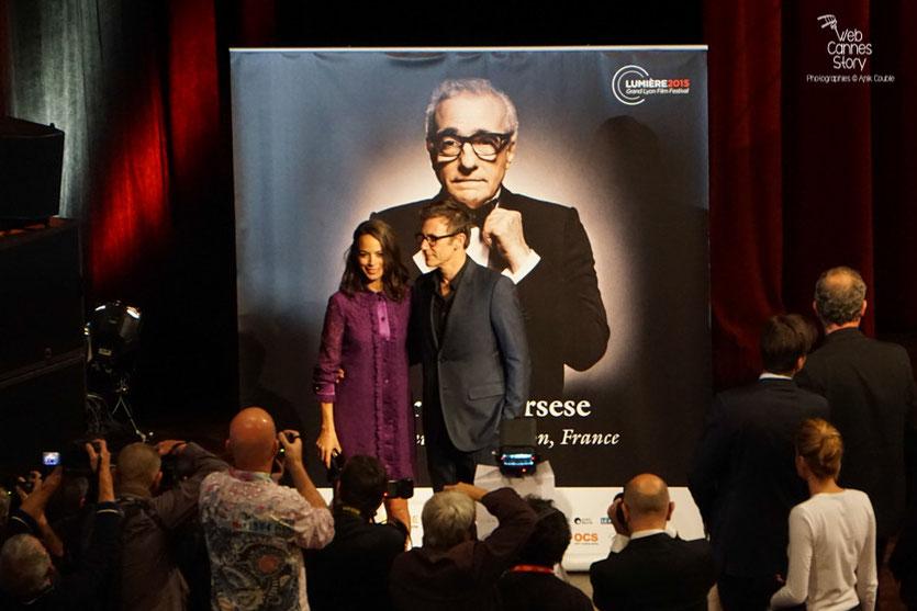 Michel Hazanavicius et Bérénice Bejo - Remise du Prix Lumière à Martin Scorsese - Festival Lumière - Lyon - Oct 2015 - Photo © Anik COUBLE