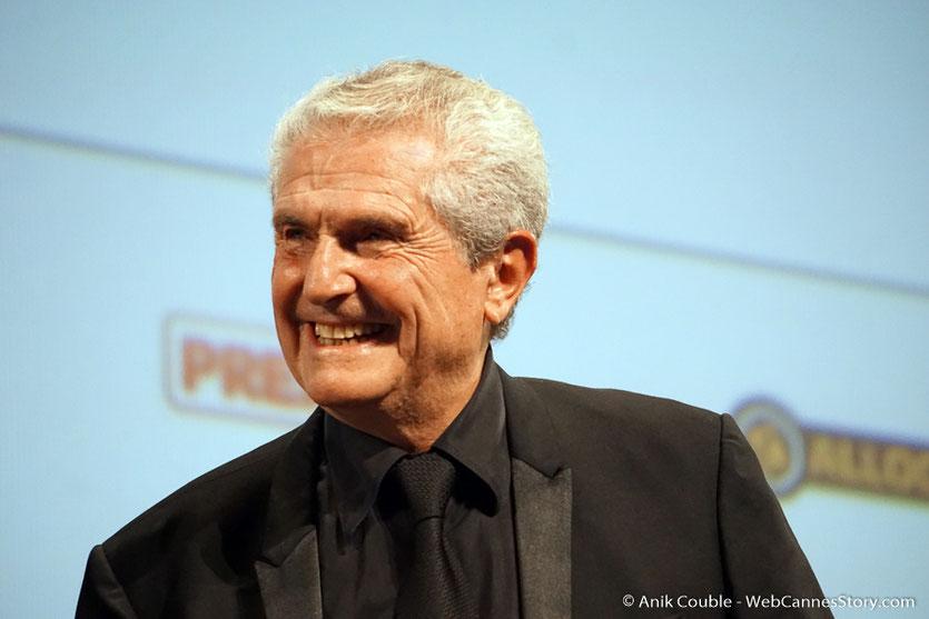Claude Lelouch, sur scène, lors de l'hommage qui lui été rendu par le Festival Lumière 2018 - Lyon - Photo © Anik Couble