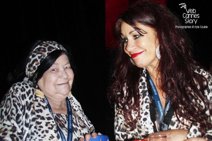"""Pascaline et Esmeralda, les femmes panthère, lors de la soirée du film """" Love """" de Gaspard  Noé - Festival de Cannes 2015 - Photo © Anik COUBLE"""