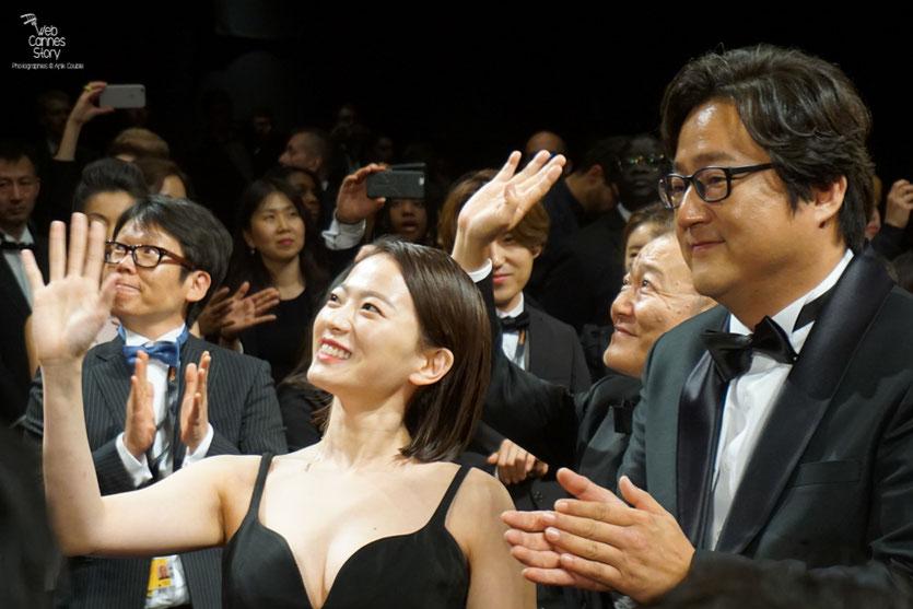"""Chun Woo Hee et Kwak Do Won, lors de la projection du  film """"Goksung"""" (The Strangers) de Na Hong Jin - Festival de Cannes 2016 - Photo © Anik Couble"""