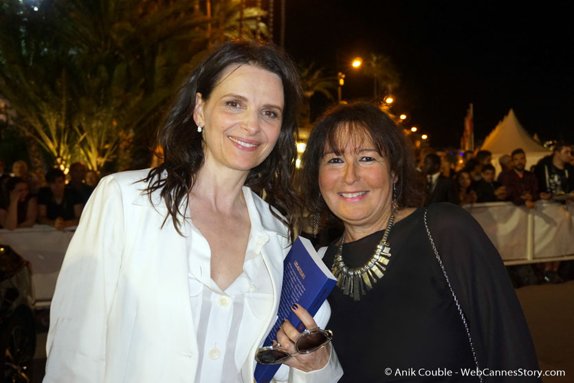 En compagnie de Juliette Binoche - Festival de Cannes 2017 - Photo © Anik Couble